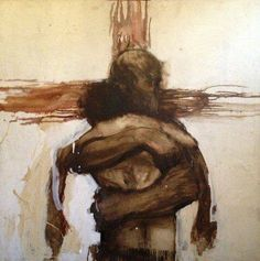 So moving, Jesus hugging man in the cross, prophetic art, Charlie Mackesy prodigal son. Catholic Art, Religious Art, Charlie Mackesy, Christian Artwork, Jesus Painting, Prodigal Son, Prophetic Art, Biblical Art, Jesus Pictures