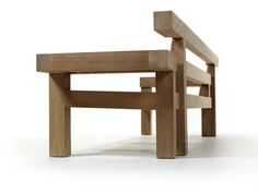 Teak garden bench with armrests NARA   Garden bench Nara Collection By Royal Botania design Louis Benech
