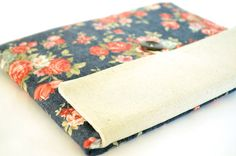 Laptop Sleeve Case for 11.6 inch 13.3 inch MacBook Pro, MacBook Air, Surface Clutch Case - Vintage Flowers
