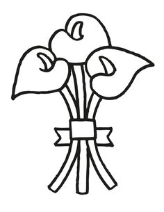 17 wedding coloring pages for kids who love to dream about their big day wedding bouquet 1
