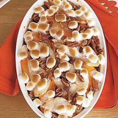 Casserole Recipe : Sweet Potato Casserole with Pears and Marshmallows