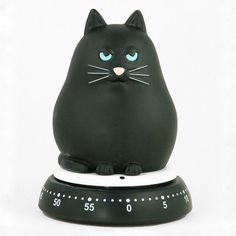 gifts for cats The Cat timer from Bengt Ek Design comes in two cute finishes, black and white, and makes any kitchen feel homey! Cool Cats, I Love Cats, Crazy Cat Lady, Crazy Cats, Gatos Cool, Kitchen Timers, Cat Decor, Cat Accessories, Here Kitty Kitty