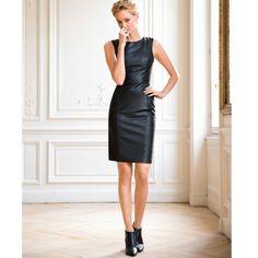 Vestido justo em pele | LAURA CLEMENT | La Redoute