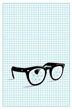Poster. Glasses.