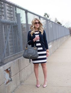 Eliza J Striped Dress + Linkup #100 • The Mix