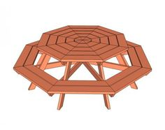 Octagon Picnic Table, love this!
