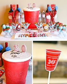 Red Solo Cup birthday cake