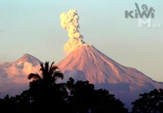 Colima, Mexico. this volcano has been erupting like this for years...very fascinating.