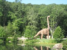 We recently traveled back in time to the wilds of Eastern Connecticut to spend the day at The Dinosaur Place at Nature's Art. Memorial Day Weekend Getaways, Mystic Seaport, Fall Vacations, Nyc With Kids, Go Usa, Beach Town, Back In Time, Where To Go