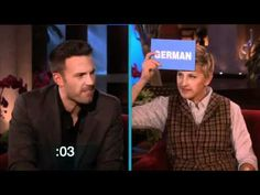 Learning Accents with Ben Affleck on Ellen. This is hilarious!!!!   Watch later