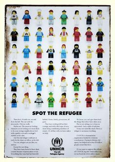 Spot the refugee. Campaign for UNHCR -still using these awesome posters to promote tolerance