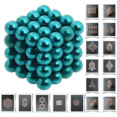 64pcs 5mm DIY Buckyballs Neocube Magic Beads Magnetic Toy Water Blue.  Check this out at the Tmart link on MomTheShopper.