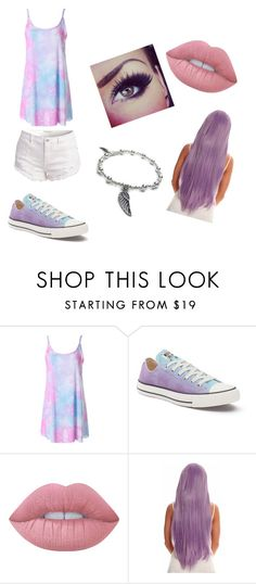 """""""#LetsBePurple"""" by ethan-s-queen on Polyvore featuring Converse, Lime Crime and Jacy & Jools"""