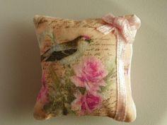 dollhouse miniatures pillow via Etsy