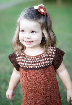 Sweater Dress for Toddler in Natural Alpaca Fall Autumn Colors size 2T short sleeves