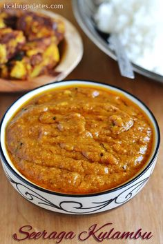 "Seeraga Kulambu recipe with step by step pictures. This seeraga kuzhambu can also be called as ""Pathiya Kuzhambu"" whenever you plan on a ""Pathiya samayal"" menu. Veg Recipes, Curry Recipes, Lunch Recipes, Indian Food Recipes, Vegetarian Recipes, Cooking Recipes, Healthy Recipes, Andhra Recipes, Vegetarian Cooking"