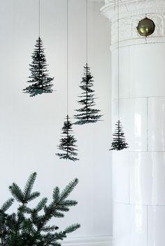 DIY inspiration   Hanging pine cone garland