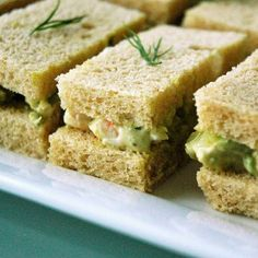 Avocado & Shrimp Tea Sandwiches Recipe. no way! My two favorite things in one!