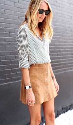 Suede Skirt | Fall