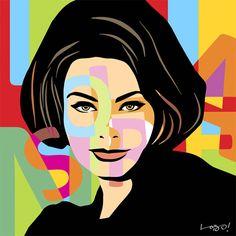 #SophiaLoren - #PopArt - lobopopart.com.br #lobopopart