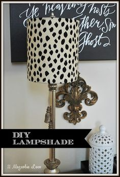The possibilities are endless with these DIY lampshade kits from I-Like-That-Lamp, simple update using Ballard Designs fabrics to create a custom look for a fraction of the price.