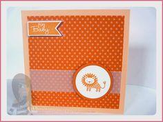 Stampin' Up! - Babykarte - Zoo Babies - Fahnengruß - rosamaedchen.blogspot.de