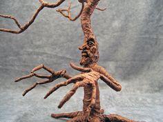 OOaK Halloween Haunted Dollhouse Miniature Fierce Witch by oddfae, $150.00
