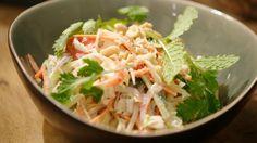 Thaise groentesalade met pindadressing | Dagelijkse kost