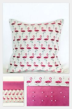 Lovely Pink Flamingo cushions  coussins flamant rose