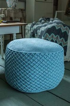 This crochet pouf is fabulous! I love the surface crochet stitching. I definitely need one for my house. Modern Crochet for Your Home - Crochet Daily - Blogs - Crochet Me
