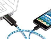 Dexim Green Smart Charger - Motion and Color of the Lighted Cord Indicated the Charge