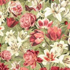 Over the Rainbow:  Wilmington and Lisa Audit Poetic Blossoms 86255-713 $7.99/yd