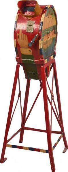 Coin-Op Mutoscope Floor Arcade Machine On Stand : Lot 966