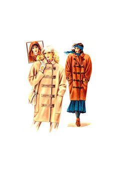 Neue Mode 20459 Duffle Coat with Optional Hood, Closure and Collar Variations, Uncut, Factory Folded Sewing Pattern Multi Size Coat Patterns, Sewing Patterns, Spanish Pattern, Duffle Coat, Winter Coat, 1980s, Size 10, Buy And Sell, Closure