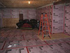 basement subfloor on pinterest basement finishing basement flooring