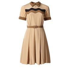Awesome brown dress by Orla Kiely.
