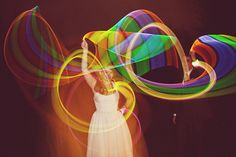 I bet your arm was sore, little light girl. This is rad. #lightpainting