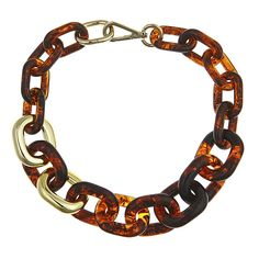 Meet Olivia, a winning combination of lux tortoise shell and gold links.  #fornash $55