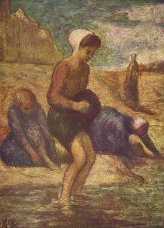 Honoré Daumier , On the Shore, c. 1849-53.