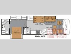 Floor plan of gas motor home