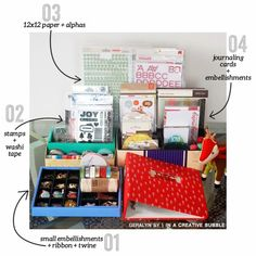 December Daily 2013 // Supplies + Organization