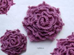 Crochet irish rose - Craft Ideas - Crafts for Kids - HobbyCraft Crochet Puff Flower, Crochet Flower Tutorial, Knitted Flowers, Crochet Flower Patterns, Knit Or Crochet, Irish Crochet, Crochet Motif, Crochet Crafts, Crochet Projects