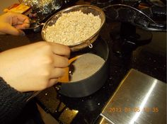 Preparation for cranberry and linseed flapjacks