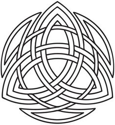 Three colors of Celtic knotwork intertwine in this timeless design. Downloads as a PDF. Use pattern transfer paper to trace design for hand-stitching.