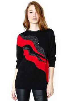 Diagonal Ways Sweater