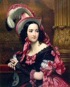 La Vénitienne au Bal Masqué by Joseph-Désiré Court, 1837 France