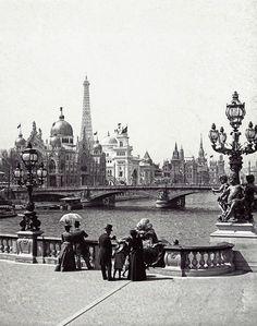 Léon et Lévy- L'Exposition Universelle depuis le pont Alexandre-III, Paris, 1900