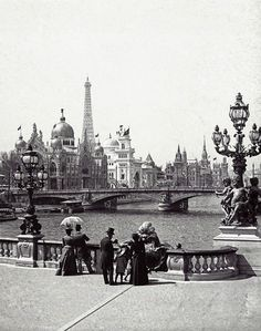 Paris, 1900. I actually have this postcard.