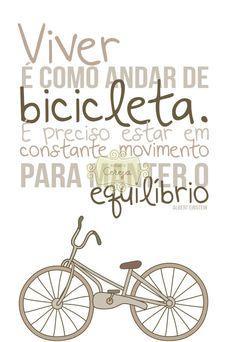 "Pôster "" Viver é como andar de bicicleta"""