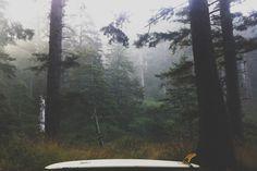 Surfing Ecola State Park Oregon